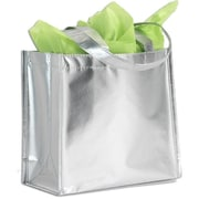 "Non-Woven 14.25""H x 15.5""W x 6""D Tote, Metallic, 100/Pack"