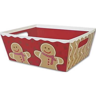 12in. x 9 1/2in. x 4 1/2in. Gingerbread Man Market Tray