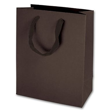 10in. x 8in. x 4in. Matte Laminated Manhattan Eco Euro-Shoppers, Espresso
