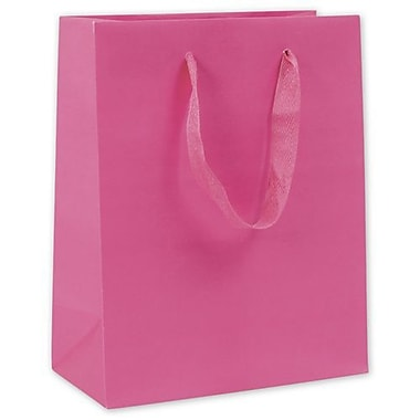 10in. x 8in. x 4in. Matte Laminated Manhattan Eco Euro-Shoppers, Fuchsia