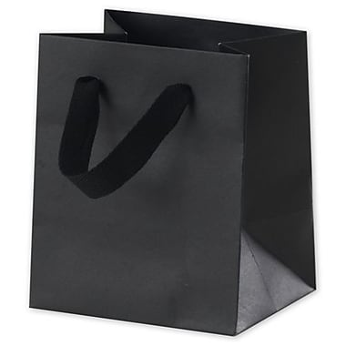 6in. x 5in. x 4in. Matte Laminated Manhattan Eco Euro-Shoppers, Black