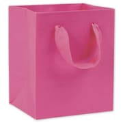 "6"" x 5"" x 4"" Matte Laminated Manhattan Eco Euro-Shoppers, Fuchsia"