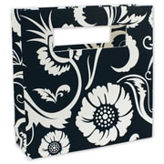 "8"" x 2 1/2"" x 8"" Bloomin' Love Mod Bag Mini Shoppers, Black/White"