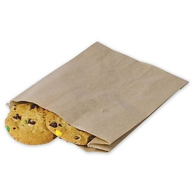 8in. x 6 1/2in. x 2in. Food Service Sandwich/Pastry Bags, Kraft