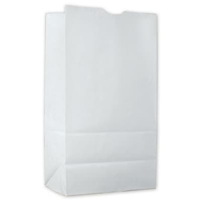 """""White Kraft Paper 11.13""""""""H x 6""""""""W x 3.38""""""""D Waxed SOS Food Bags, White, 1000/Pack"""""" 81081"