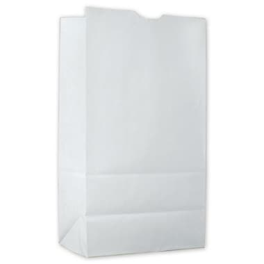 11 1/8in. x 6in. x 3 3/8in. Food Service Waxed SOS Bags, Kraft