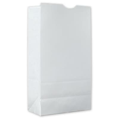 """""White Kraft Paper 9.81""""""""H x 5""""""""W x 3.13""""""""D Food Service SOS Bags, White, 1000/Pack"""""" 81082"