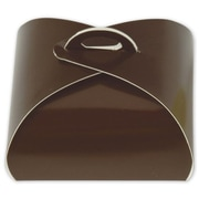 """Paper 1.63""""H x 3""""W x 3""""L Solid Truffle Tote, Brown, 50/Pack"""