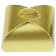 "Paper 1.63""H x 3""W x 3""L Solid Truffle Tote, Gold, 50/Pack"