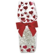 "2 5/8"" x 1 7/8"" x 10 3/4"" Hearts Cello Bags, Red"