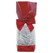 2 5/8 x 1 7/8 x 10 3/4 Solid Band Cello Bags, Red