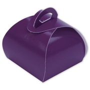 "1 1/4"" x 1 1/2"" x 1 1/2"" Single Truffle Totes, Purple"