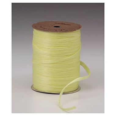 1/4in. x 100 yds. Matte Wraphia Ribbon, Yellow