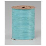 "1/4"" x 100 yds. Matte Wraphia Ribbon, Robin's Egg Blue"
