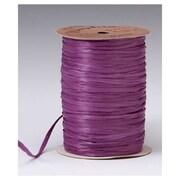 """1/4"""" x 100 yds. Matte Wraphia Ribbon, Grape"""