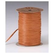 """1/4"""" x 100 yds. Matte Wraphia Ribbon, Terra Cotta"""