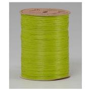 """1/4"""" x 100 yds. Matte Wraphia Ribbon, Chartreuse"""