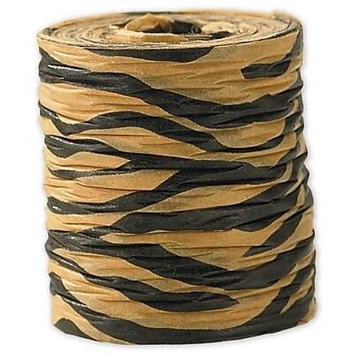 1 1 2 x 25 yds. Crinkle Paper Tiger Ribbon Black on Yellow