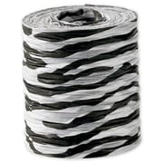 "1 1/2"" x 25 yds. Crinkle Paper Zebra Ribbon, Black on White"