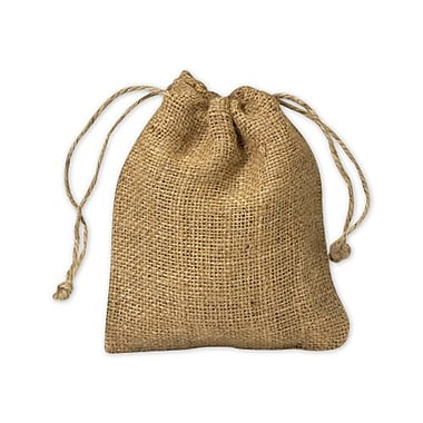 5in. x 6in. Burlap Cloth Bags, Brown