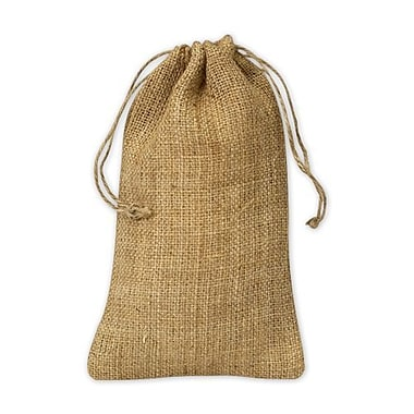 5 3/4in. x 9 3/4in. Burlap Cloth Bags, Brown