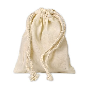 5in. x 6in. Muslin Cloth Bags, White