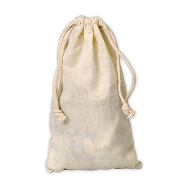5 3/4in. x 9 3/4in. Muslin Cloth Bags, White