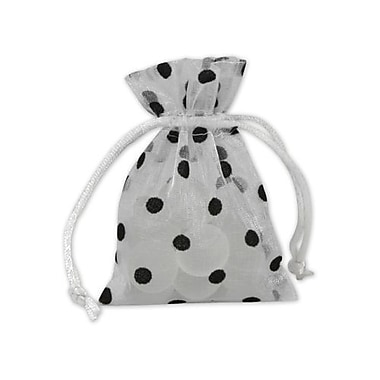 Bags & Bows® 3in. x 4in. Polka Dot Organdy Bags