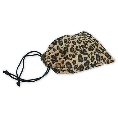 3in. x 4in. Leopard Drawstring Bags, Black and Tan
