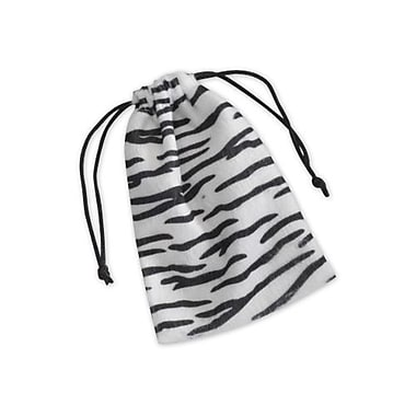 4in. x 6in. Zebra Drawstring Bags, Black and White