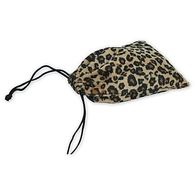 4in. x 6in. Leopard Drawstring Bags, Black and Tan