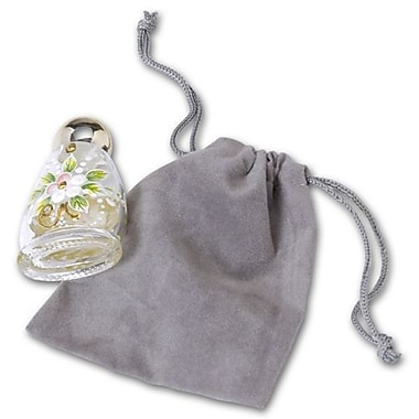 Fabric 4in.H x 3in.W Solid Pouch, Gray, 100/Pack