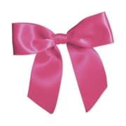 "3"" Pre-Tied Satin Bows, Hot Pink"