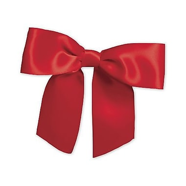 Pre-Tied Satin Bows, 3in.