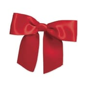 """3"""" Pre-Tied Satin Bows, Red"""