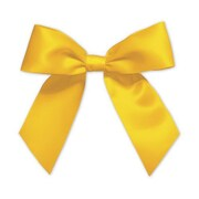 "3"" Pre-Tied Satin Bows, Gold"