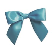 """3"""" Pre-Tied Satin Bows, Turquoise"""