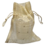 4 1/2 x 5 1/2 Natural Jute Bags, Brown