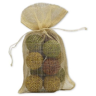 5 1/2in. x 9in. Natural Jute Bags, Brown