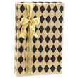 24in. x 417' Diamonds Gift Wrap, Black/Kraft