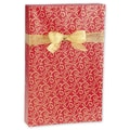24in. x 100' Scrolled Hearts Gift Wrap, Red