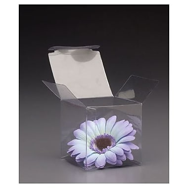 3in. x 3in. x 3in. One-Piece Boxes, Clear