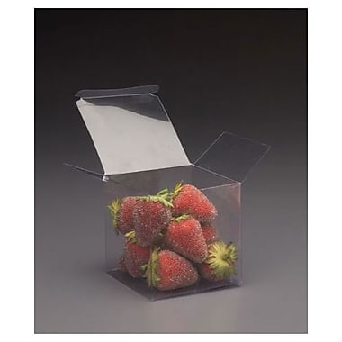 PVC 4in.H x 4in.W x 4in.L One-Piece Food Boxes, Clear, 200/Pack