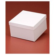 "White High Wall Gift Box Bottoms 6""H x 10""W x 10""L, White, 50/Pack"