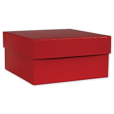 10in. x 10in. x 6in. Hi-Wall Gift Box Bottom, Red