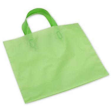 BG Frosted Economy Shoppers, 16in. x 15in. + 6in.