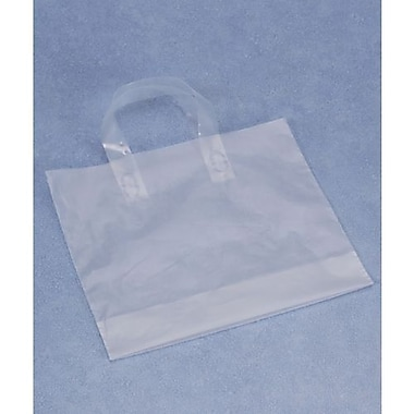 12in. x 10in. + 4in. BG Frosted Economy Shoppers, Clear