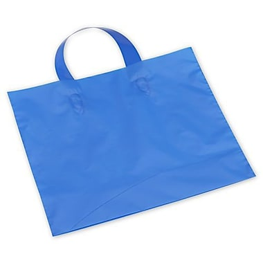 12in. x 10in. + 4in. BG Frosted Economy Shoppers, Dark Blue