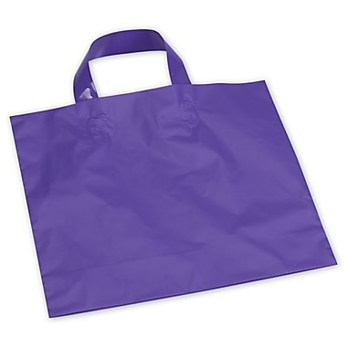 12in. x 10in. + 4in. BG Frosted Economy Shoppers, Purple