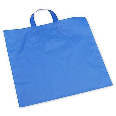 Polyethylene 15in.H x 16in.W x 6in.D Frosted Shopping Bags, Dark Blue, 250/Pack